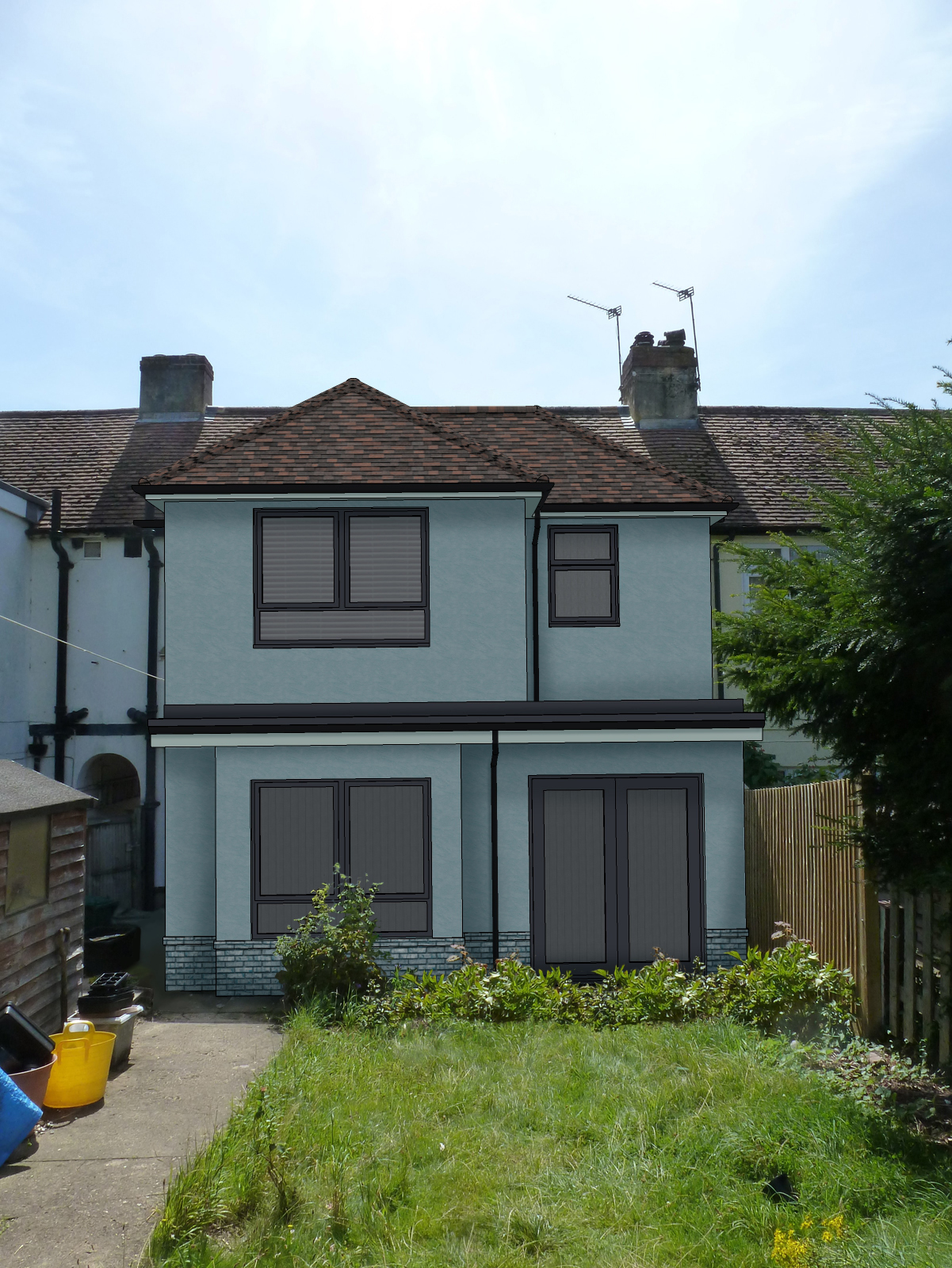 Approved 2-storey extension